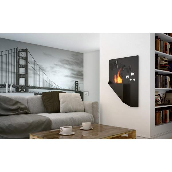 biokamin swarovski kristallidega butterfly. Black Bedroom Furniture Sets. Home Design Ideas