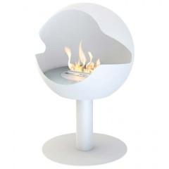 Biokamin Globe White Cast Iron High