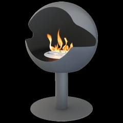 Biokamin Globe Grey Cast Iron High